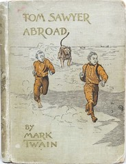 """Tom Sawyer Abroad"" by Mark Twain. NY: Charles L. Webster & Co., 1894. First edition. Illustrated by Dan Beard (lhboudreau) Tags: book books hardcover hardcovers hardcoverbook hardcoverbooks bookart fiction fictionnovel fictionstory hotairballoon balloon airtravel marktwain danbeard charleswebster charleslwebster webster samuelclemens charleslwebsterco firstedition tomsawyer tomsawyerabroad tomsawyerseries 1894 illustration illustrations drawing drawings coverart huckleberryfinn huckfinn jim africa lions african novel story classicstory antiquebook antiquebooks"