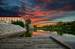 (lhemund) Tags: sunset outdoor landscape   moscow  sunsetsky water