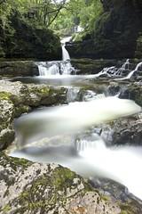 Up and down (pauldunn52) Tags: waterfall long exposure cascade green valley avon mellte brecon beacons sgwd club gwyn isaf wales