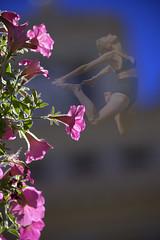 Petunias (swong95765) Tags: petunias flowers sky jump woman fall free falling spirit