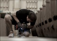 Teatro Comunale di Bologna (Renato Morselli) Tags: teatrocomunaledibologna teatro theatre bologna platea poltrone nuovo opera lirica musica music montaggio bibiena 2016 italy lavoro work uomo man trapano forare
