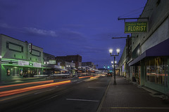 DSC_0106 Malvern downtown (snolic...linda) Tags: arkansas 501 malvern downtown carlights bluehour
