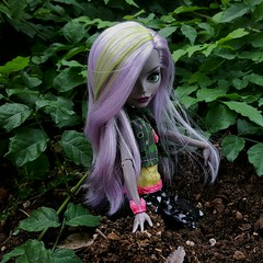 Death and D'kay (ozthegreatandpowerful) Tags: monster high moanica dkay doll welcometo dancethefrightaway draculaura dance reboot daughter zombie dolls monstrous rivals 2pack