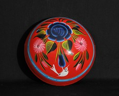 Painted Gourd Bowl Mexico (Teyacapan) Tags: gourds cup bowl mexican mexico oaxaca guerrero nahua flowers tejate painting birds