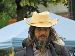 El Topo (knightbefore_99) Tags: candid people party june 2016 car free day commercialdrive vancouver eastvan street eltopo hat cool dude awesome