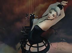 766  (BillitaUnderZone) Tags: souzoueien spellbound supernatural dirtystories poseidon girl doll newreleases black virtual secondlife sl birds heaven