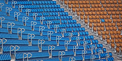 different (memories-in-motion) Tags: diffenernt anders sitze stadion pltze seat leer rot blau red blue treppe stairs tribne show numbered reserved reserviert canon raster matrix geordent ordnung minimalism unterschied color farbe form und sdkurve stadium