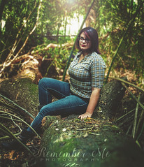 _DSC0302 (taylormackenzie) Tags: girl woman pretty outside tree trees bamboo gaze glasses woods trunk boots jeans arms button up hair eyes dof