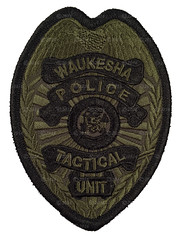 Waukesha Police Tactical Unit Badge Patch (Nate_892) Tags: wi wisconsin police sheriff county kenosho drug enforcement badge patch subdued waukesha tactical unit