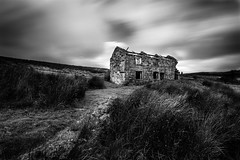 Bleak House (derekgordon1) Tags: nikond7100 sigma1020 blackwhite monochrome mono longexposure longexpo nd filter 10stop grass sky clouds windy desolate bleak harsh movement