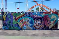 Coney Island - Coney Art Walls: Coney Island Roller Coaster Life by Lady Pink (wallyg) Tags: brooklyn coneyartwalls coneyisland kingscounty newyork newyorkcity ny nyc streetart ladypink mural coneyislandrollercoasterlife