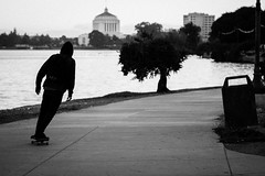 skate thru (heavysoulclick) Tags: lakemerritt street photography color bw blackandwhite magic moment scene candid people city urban lifestyle canon 5d full frame nikonlens