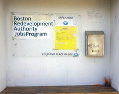Job Program, Boston MA (Boston Runner) Tags: eastboston harborwalk massachusetts 2016 tour bostonhabornow bra job application box eastpier7 lewisstreet pencils instructions bostonredevelopmentauthority program