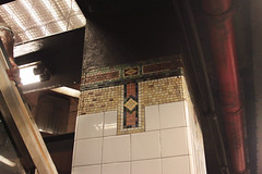 Subway Column Details (lefeber) Tags: newyork newyorkcity nyc city urban architecture building interior grandcentralterminal subwaystation underground mosaic tiles column pipes angles railing lights