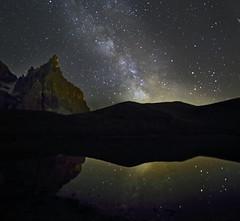 Sidus ad sidera (Robyn Hooz) Tags: stelle stars via lattea night milky way samyang 14mm canon eos 6d baita segantini cime cimon pale san martino lago lake riflesso reflection