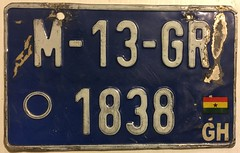 GHANA CURRENT ISSUE MOTORCYCLE PLATE (woody1778a) Tags: ghana africa motorcycle bike numberplate licenseplate registrationplate mycollection myhobby alpca1778 npcc196 worldplates collector collection geography