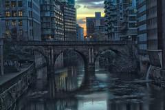 River. Sunset. December. Cold. (0-1-6-1) Tags: bridge winter sunset river manchester hdr riverirwell