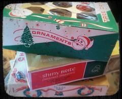 Love vintage ornament boxes  :) (eg2006) Tags: santa christmas xmas old cute vintage kitsch retro ephemera cardboard ornament nostalgic boxes uploaded:by=flickrmobile flickriosapp:filter=nofilter
