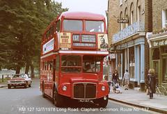 RM 127                12/7/1978 (colinfpickett) Tags: routemaster lt rm aec vintagebus classicbus famousbus