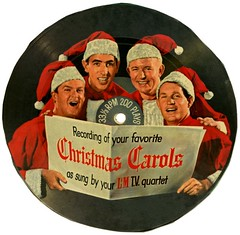 Christmas Carols as Sung by Your L&M T.V. Quartet (Alan Mays) Tags: christmas xmas old red music white records men television musicians vintage ads paper advertising tv holidays singing circles hats ephemera cardboard round 1960s carols cigarettes lm advertisements printed vocals tobacco songs discs circular brands groups rpm 33rpm companies manufacturers recordings misshapen 3313 vocalists quartets christmascarols tobaccocompanies phonographrecords picturediscs 3313rpm liggettmyers liggettmyerstobaccocompany quartettes lmtvquartet