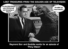 PERRY MASON defends GODZILLA (DarkJediKnight) Tags: japan court poster humor fake godzilla parody law spoof gojira raymondburr perrymason