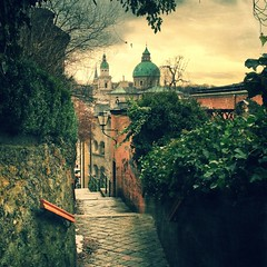 Peaceful. (Sascha Unger) Tags: salzburg castle church mobile stairs austria sterreich europe phone cathedral dom kirche treppe sascha altstadt oldtown fortress kloster burg stiege iphone festung unger hohensalzburg nonnberg iphonography nonnbergstiege iphoneography saschaunger