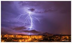 Impact de foudre ramifi sur La Crau (Nightmar83) Tags: de la impact sur var crau foudre 83260 ramifi