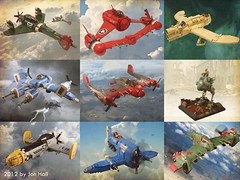 2012 (JonHall18) Tags: plane fighter lego aircraft year walker fantasy moc skyfi dieselpunk