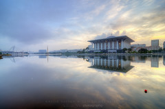 Tuanku Mizan Zainal Abidin Mosque (Mohamad Zaidi Photography) Tags: morning reflection sunrise nikon southeastasia explore malaysia hdr masjid putrajayamosque tenang nyaman d7000 tokina1116 tuankumizanzainalabidin mohamadzaidiphotography malaysiatrullyasia