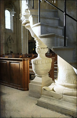 St. Johannis Church (pulpit stairs) (macfred64) Tags: church stairs germany pulpit textured homeland billerbeck skeletalmess elmarit24mmf28asph leicax1 stjohannischurchbillerbeck stjohanniskirchebillerbeck
