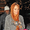 Lindsey Lohan heads back to the Dorchester Hotel after shopping at Harrods