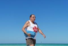 Strong and Free (knightbefore_99) Tags: cuba cuban santamaria cayo island freedom tropical fat strong canada oh towel blue sky beach jingoism obese libertad