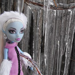 Abbey's New Years Resolution (DLSarmywife--DLightful Designs) Tags: blue winter snow cold ice frozen pretty purple pastel pale stunning icy sparkly mh bluehair icicles whitehaired fashiondolls pinkhaired monsterhigh abbeybominable