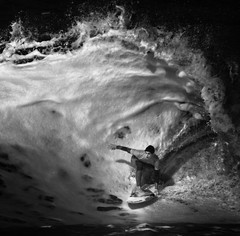 Morning Spotlight (McSnowHammer) Tags: france gabriel ir la surfer tube barrel wave hossegor surfing infrared pro medina brazilian 2012 whitewash quiksilver graviere
