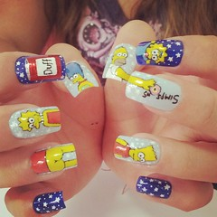 The Simpsons (Ch de Unhas) Tags: city family boy girl yellow movie stars mom dad cartoon simpsons nails thesimpsons naildesign flickrandroidapp:filter=none