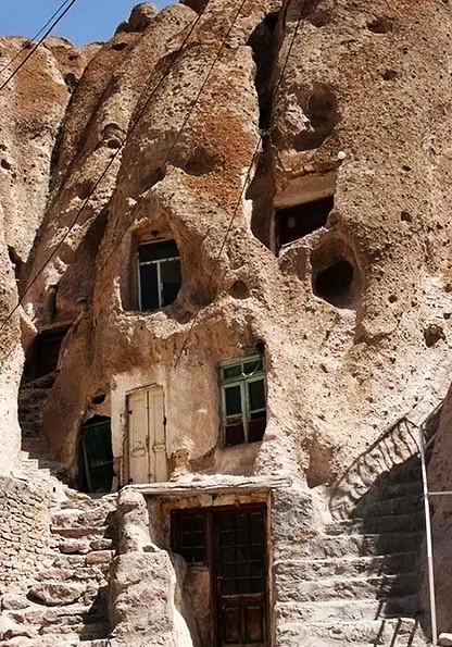 Иран, Тебриз, Кандован, скальные жилища, пещерные жилища