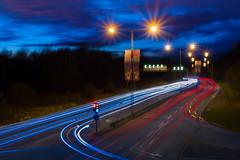 Light trails (Fotograf Myregrund) Tags: city longexposure night stockholm lighttrails kista stad ljus