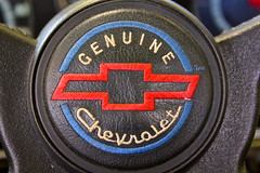Genuine (Derek Drocy) Tags: blue red usa white chevrolet america canon rebel 1971 chevy canonrebel inline horn six 250 genuine xsi fleetside c10 straightsix chevyc10 shortbed
