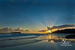 Fingal Heads Sunrise (Nolan White) Tags: red beach sunrise waves nsw northernrivers fingalheads