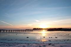 Fire and Ice (Henrik Glette) Tags: winter sunset ice norway fire larkollen stfol