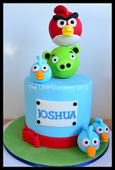 Angry Birds Cake (Klaire with a Cake) Tags: cake jai tlc angrybirds thelittlecupcakery klairescupcakes ninjago