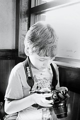 young photographer (Laura Sorrells) Tags: camera family love monochrome june focus photographer joy nephew monroe summertime 2012 davidjames