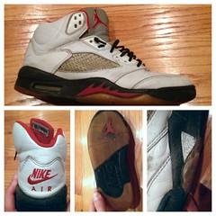 *Gone* 1999 Jordan 5 Retro Fire Red (thetank642) Tags: red fire shoes 5 air 1999 nike retro jordan rare jumpman