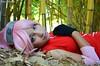 Sakura (Vitor Silveira Photography) Tags: red brazil woman anime girl rose garden nikon portoalegre rosa vermelho sakura naruto shippuuden d5100 nikond5100
