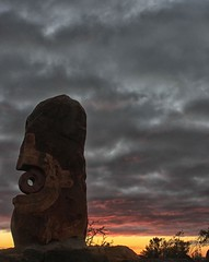 Firing (pominoz) Tags: sculpturesymposium brokenhill nsw sculpture art sunrise clouds
