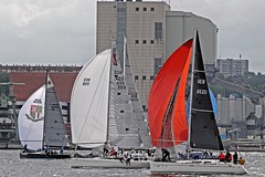 """Tosen"" Maxfun 35 -  ""Beachyachtingracingteam""  Italia 9,98 - ""Bazz"" Dufour 34 perf. (winchman2010) Tags: sailing segeln regatta yachts boats kiel baltic ostsee welcomerace"