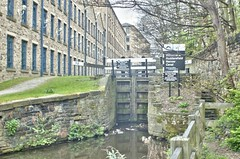 Huddersfield Narrow Canal, Huddersfield University, jcw1967 (6) (jcw1967) Tags: huddersfield uk 2014 huddersfieldnarrowcanal narrowcanal canal narrow historical industrial heritage industry hdr oloneo ope