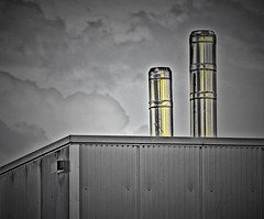 chimneys (Sebastian Schmeinck) Tags: black white bw schwarz weiss minimal abstract outdoor canon eos perspective view lines
