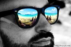 Long Beach Dream (koh phi phi) (Adeline Govi N) Tags: man homme look lunette regard koh phi thailand long beach plage rve dream portrait