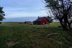 The Red Homestead (TigerPal) Tags: saskatchewan sask prairie plains abandoned forgotten countryside rural ruralexploration dustyroad gravelroad shamrock oncewashome homestead pioneer farm farmyard farmhouse availablelight dusk